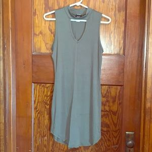Rue21 army green fitted dress